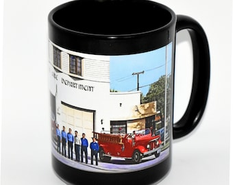 Coffee Mug • Hanford, California • Series 4, Number 14 • LACEY FIRE STATION •