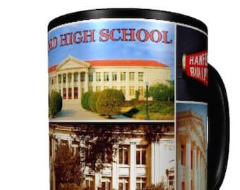 Coffee Mugs • SET OF 4 • Hanford, California • Series 6, Number 21 • Hanford High School •