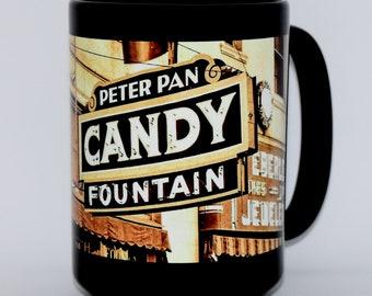 Coffee Mug • Hanford, California • Series 3, Number 11 • PETER PAN FOUNTAIN • New