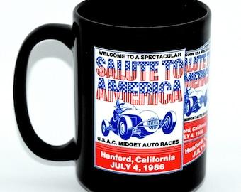 Coffee Mug • Hanford, California • Series 2, Number 6 • Racing from 1986 • New