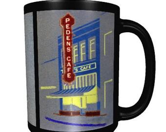 Coffee Mug • Hanford, California • Series 1, Number 2 • Peden's Cafe • New