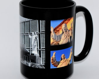 Coffee Mug • Hanford, California • Series 2, Number 5 • SACRED HEART STATUE • New