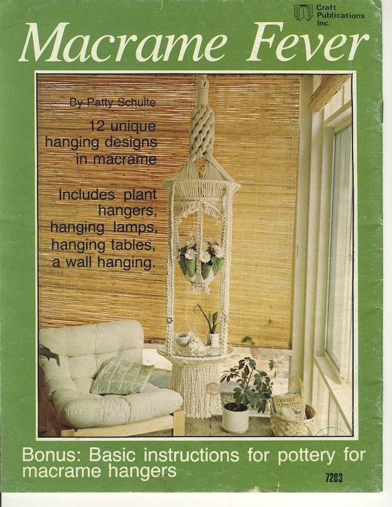 Macrame Fever Vintage Magazine Digital Download Pdf Format Etsy