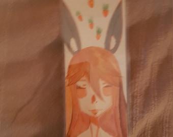 Orange Bunny bookmark
