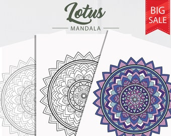 Lotus Mandala Coloring Pages Adult Sheet For Adults Colouring Page