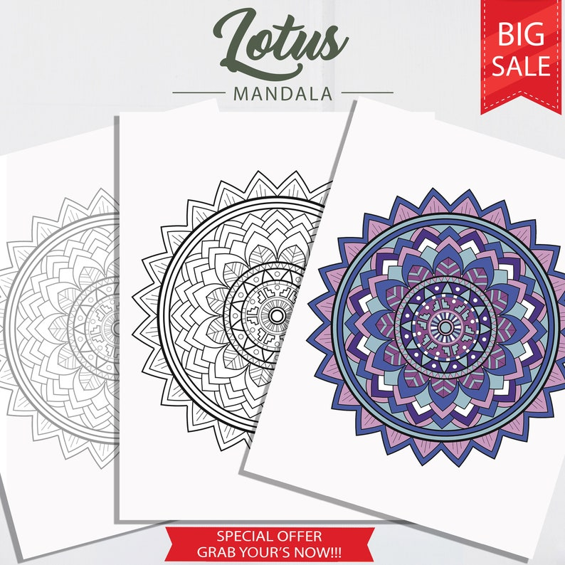 Lotus Mandala Coloring Pages Adult Etsyrhetsy: Colouring Pages Adults Pdf At Baymontmadison.com