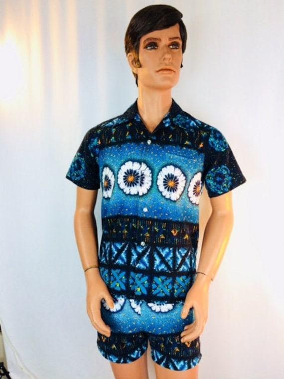 1960's Men's Kai Nani Cabana Set Swimwear Suit, Ha