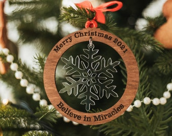 Best Christmas Ornament | Christmas Wooden Baubles | Baby First Christmas | Holiday Decoration | Engraved Christmas Gifts