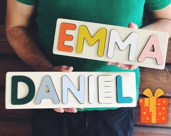286d305c9 Baby Boy and Baby Girl Christmas Gift Personalized Wooden Name Puzzle 1st  Birthday Girl and Boy Engraved Baby Gift Kids Toys Name Puzzle