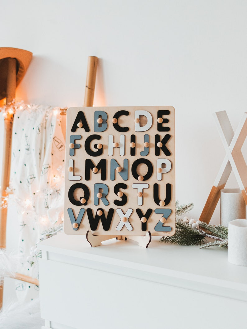Wooden Alphabet Puzzle for Boy image 0