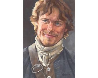 Jamie Giglee art print by Scottish Artist Micaela Walker
