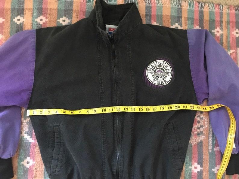 Colorado Rockies Jacket Colorado RockiesRockies Jacket90/'s JacketVintage Oversize JacketBaseball Jacket Purple Jacket Athletic Jacket