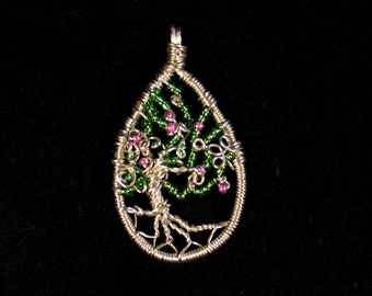 Tree of Life Pendant – Silver Plated Wire and Chain