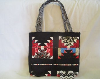 New Quilted Aztec Design Purse w/ Matching Coin Purse