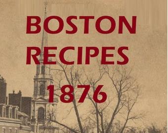 Boston Recipes 1876