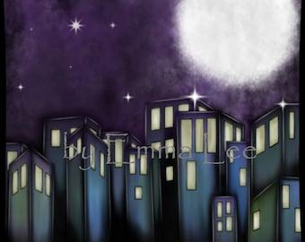 Night City by Emma Lee Digital Print
