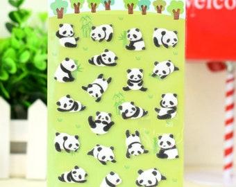 Happy Panda Felt Stickers