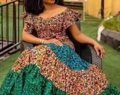 Ankara Maxi Dress Loose Fit Dress Summer Dress African women Dress Dress Ankara Prom Dress African Print Dress