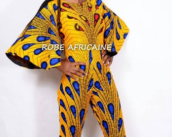 936db6ad7 African Jumpsuit/Ankara Jumpsuit/African Clothing/African Print Romper/Yellow  Jumpsuit/Wedding Jumpsuit/Bridal Jumpsuit/Jumpsuit/Women