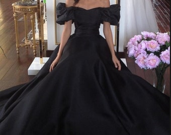 Ball Gown Bridal Gown Wedding Gown Victorian Ball Gown Black Ball Gown Cinderella  Ball Gown Satin Prom Dress Homecoming Dress Bridesmaids 0af72a3ccece