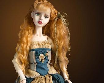 Bjd doll/ art doll/lPolymer clay doll / Interior doll/ doll in vintage style
