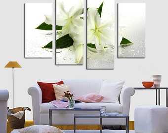 Lily Flowers Art Canvas