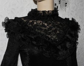 Schwarzes Kleid Etsy