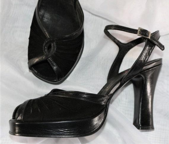 Platform shoes Buffalo Leather Sandals High Heel E