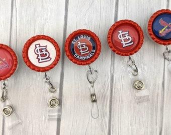 FTH Louisville Cardinals Badge Reel with Alligator Clip
