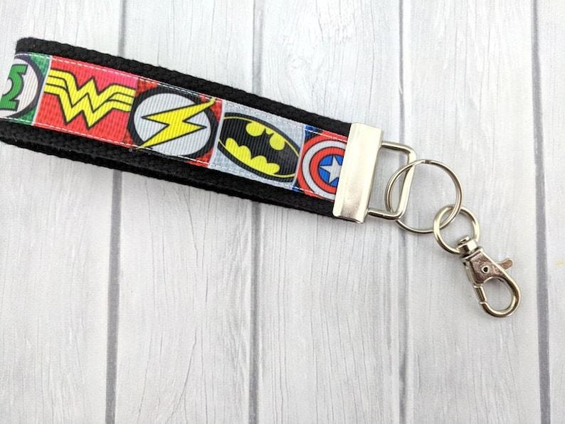 SF Giants Ribbon Key Chain-Sport Key Fob-Baseball Key Fob-Key Chain-Wristlet-Party Favor