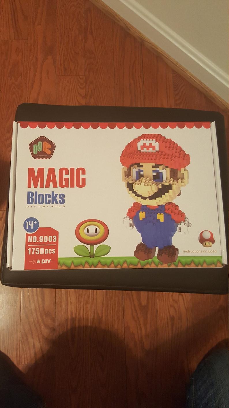 Magische Steine HC Super Mario Nintendo DIY Figur Spielzeug bauen Spiel