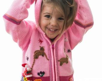 8e86fef7cd Nuovo maglione di lana peruviana di Natale ricamato genuino per bambini.