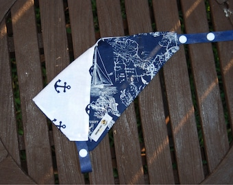 Ships and Sailors Double Sided Cotton Bandana