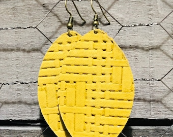 Mustard Yellow Earrings