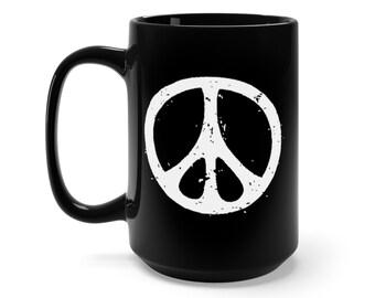 Peace Sign Mug Etsy