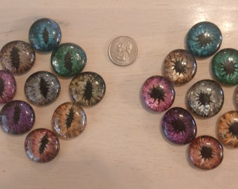 Hand Painted Dragon Eyes (Quarter Size)