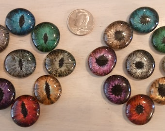 Hand Painted Dragon Eyes (50 cent Size)