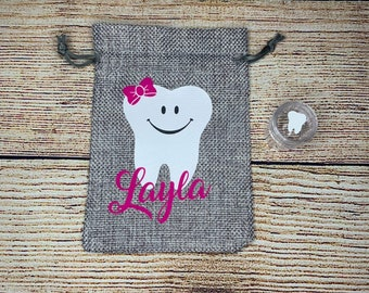 Tooth Fairy Bag || Tooth Fairy Pouch || Customized Tooth Keepsake || Personalized Tooth Holder