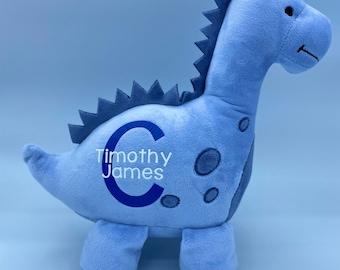 Birth Announcement Dinosaur || Birth Stat || Baby Shower Gift || Personalized || Dinosaur Plush || Newborn Present
