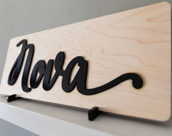 Baby Name Puzzle   Wood and Acrylic Puzzle   Cursive Name Puzzle   Script Name Puzzle