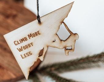 Rock Climber Ornament