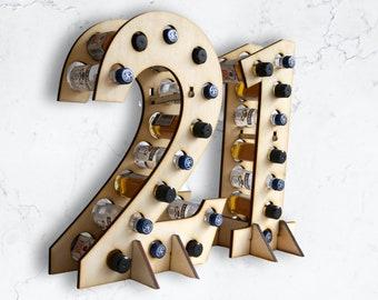 21st Birthday Gift   Shot Birthday Gift   Alcohol Gift   Funny 21   21 Themed