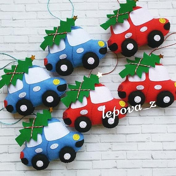 Car Christmas Ornaments.Christmas Ornaments Felt Car Ornament Christmas Decorations Ornament Felt Christmas Tree Ornaments Cute Car Christmas Gifts
