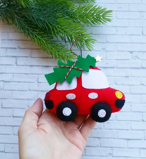 image 0 - Christmas Ornaments Felt Car Ornament Christmas Decorations Etsy