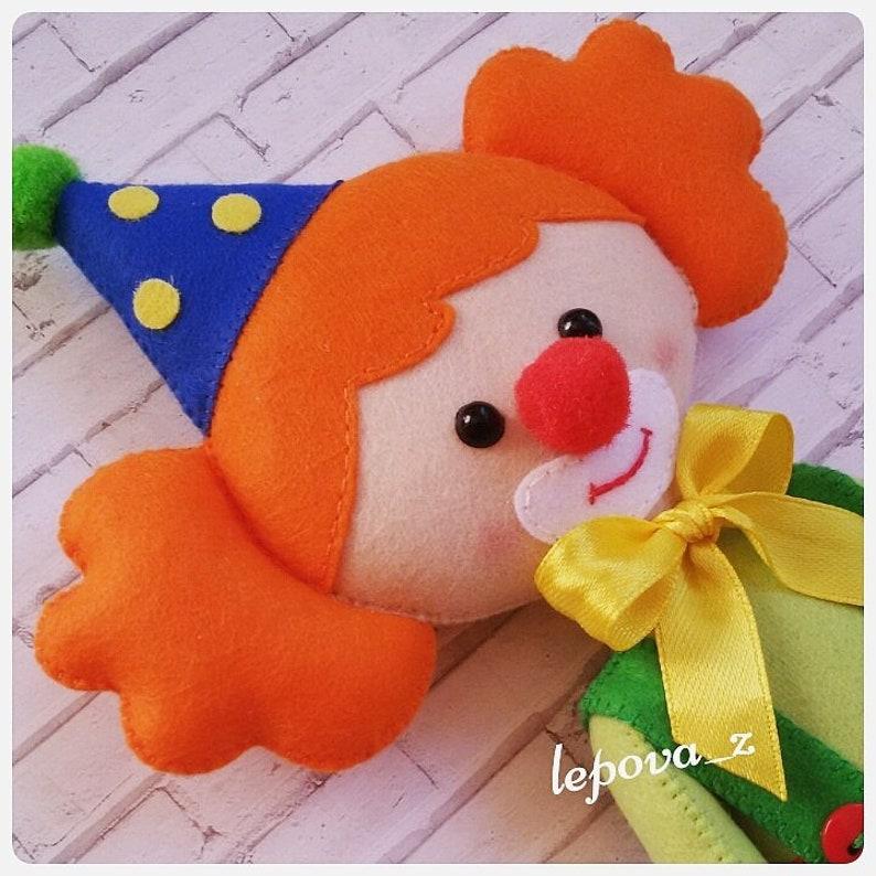 Circus characters Carnival ornament Circus ornaments clown plush decorations carnival party clown felt doll Circus Clown Decor interior doll