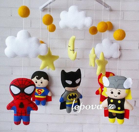 Baby mobile Decke mobile Superhelden mobile Superhelden Baby | Etsy