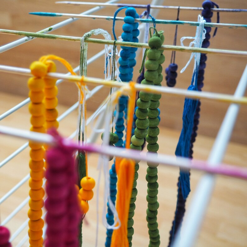 Neem wood Mala necklace \u201eDhoop\u201c half dipped, 108 beads from India, Ayurveda Mala