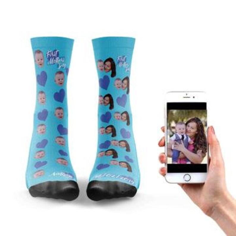 First Mothers Day Sock Custom Designed Socks