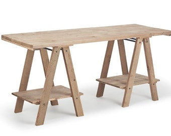 Wooden Trestle display table