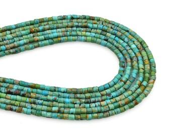 16/'/' strand 2x4 3x6 3x8 3x6 3x8 3x10 3x12mm Natural Jewelry Beading Stone beads Blue Howlite Turquoise Heishi  Gemstone Loose Beads